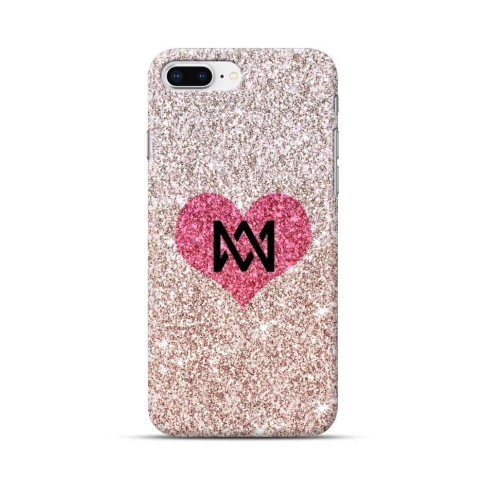 online retailer a2486 b25a0 Heart Gold Glitter iPhone 8 Plus Case
