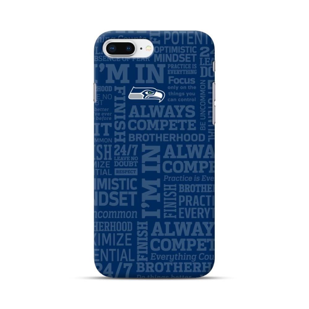 size 40 39a51 53c47 Seattle Seahawks Team Logo Texts Pattern iPhone 8 Plus Case