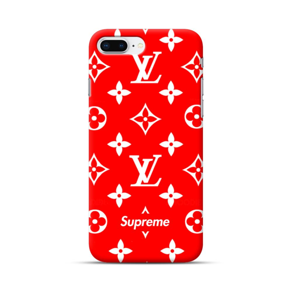 classic red louis vuitton monogram x supreme logo iphone 8 plus caseclassic red louis vuitton monogram x supreme logo iphone 8 plus case