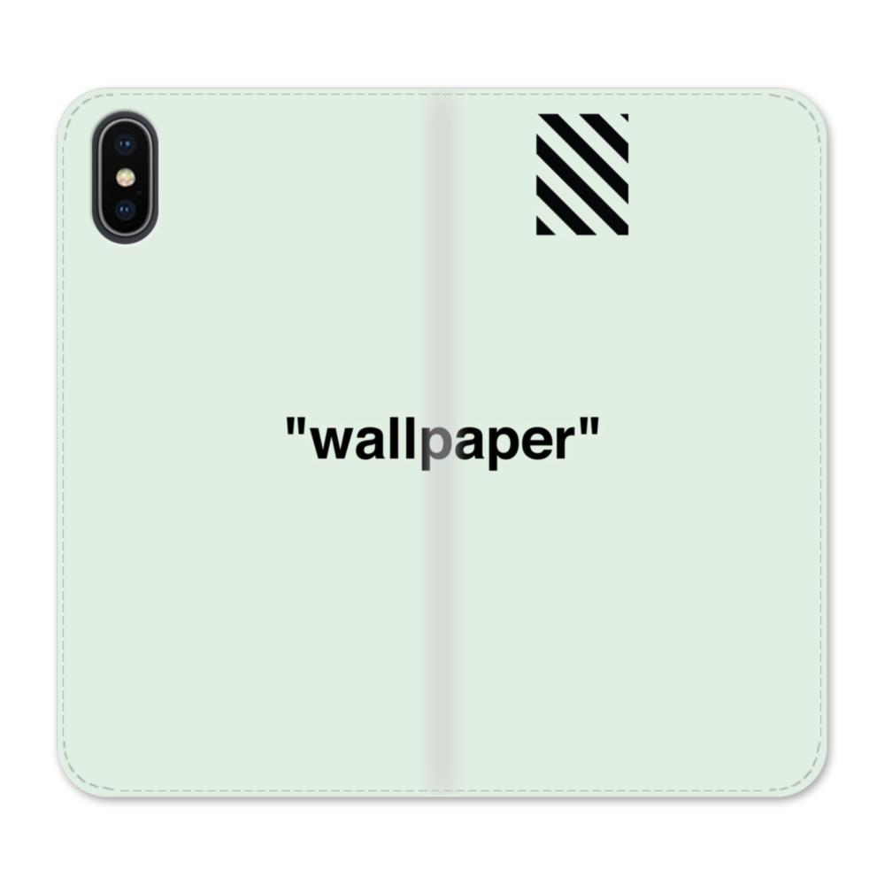 Wallpaper Stripes Minimalism Iphone X Wallet Leather Case