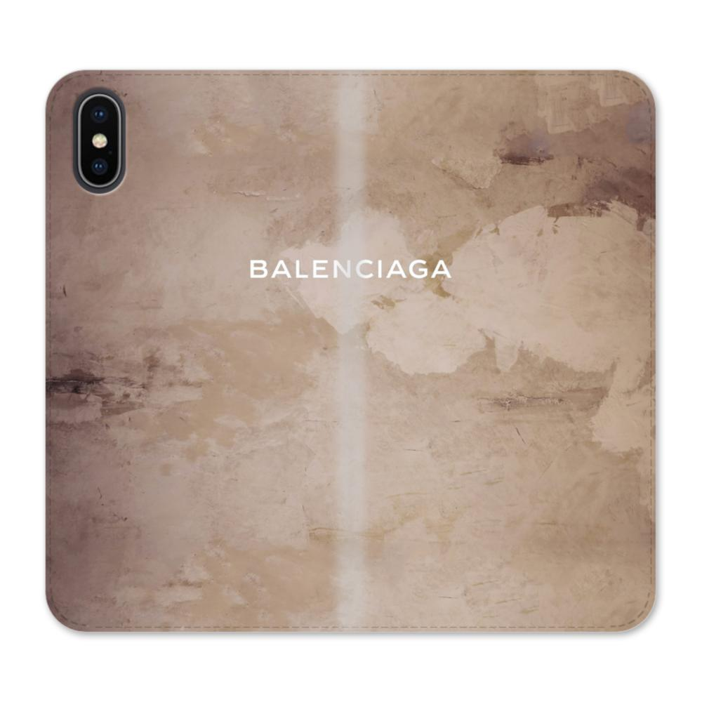 info for 1609a c3cb7 Balenciaga Grunge Style iPhone X Wallet Leather Case