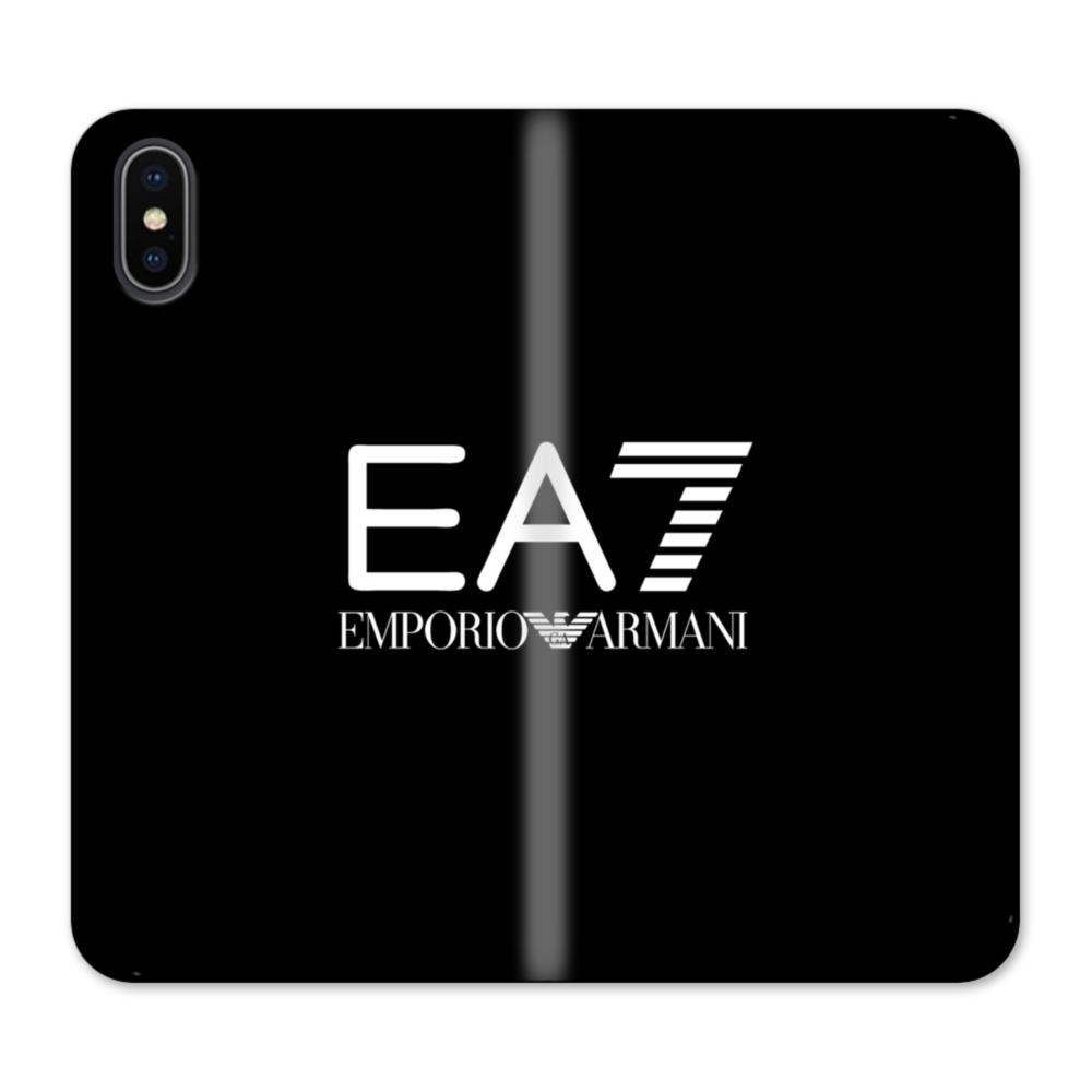 finest selection ab193 14252 EA7 Emporio Armani iPhone X Wallet Leather Case