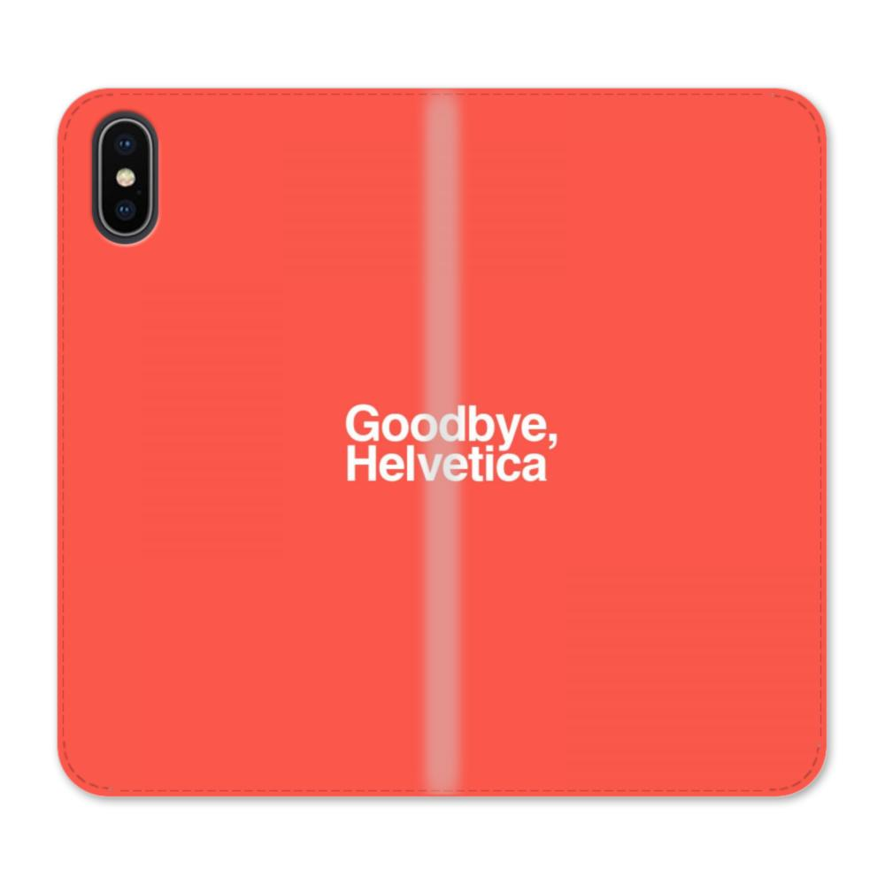 sale retailer d3301 dddf1 Goodbye Helvetica iPhone X Wallet Leather Case