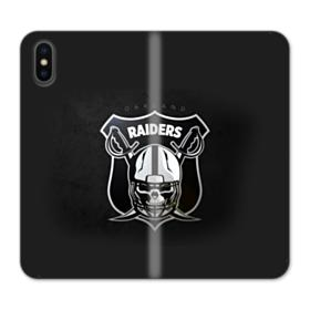 Oakland Raiders Team Logo Crest Shield iPhone X Wallet Leather Case
