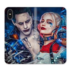Harley Quinn And Joker iPhone X Wallet Leather Case