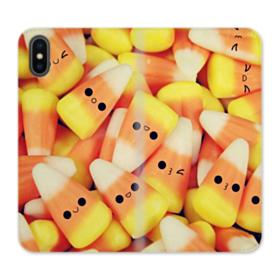 Cute Candy Corn iPhone X Wallet Leather Case