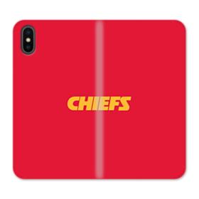 Chiefs Logo Red iPhone X Wallet Leather Case