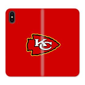 Kansas City Chiefs Red Logo iPhone X Wallet Leather Case