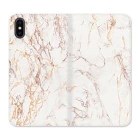 Rosegold Marble iPhone X Wallet Leather Case