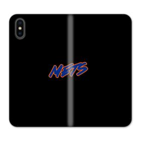 Mets Logo Neon iPhone X Wallet Leather Case