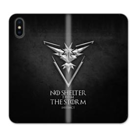 No Shelter From The Storm iPhone X Wallet Leather Case