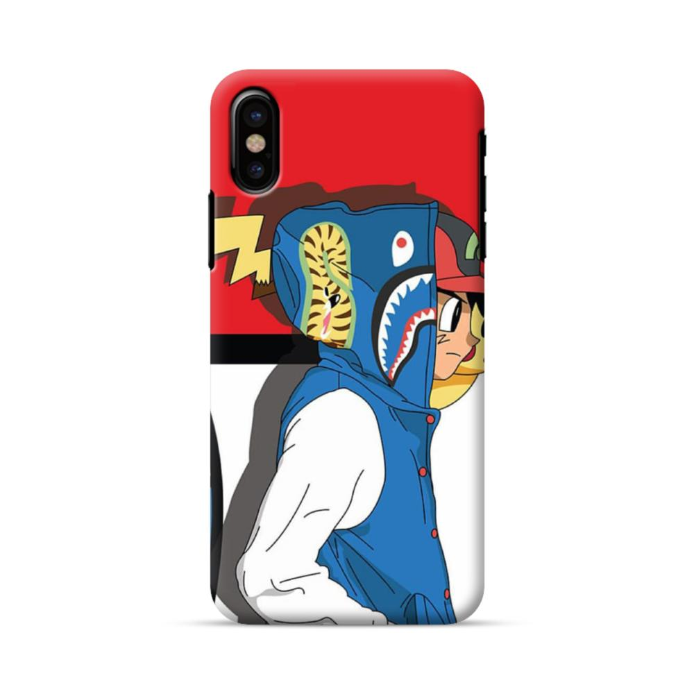newest b3e13 873e3 Ash Ketchum and Pikachu iPhone X Case