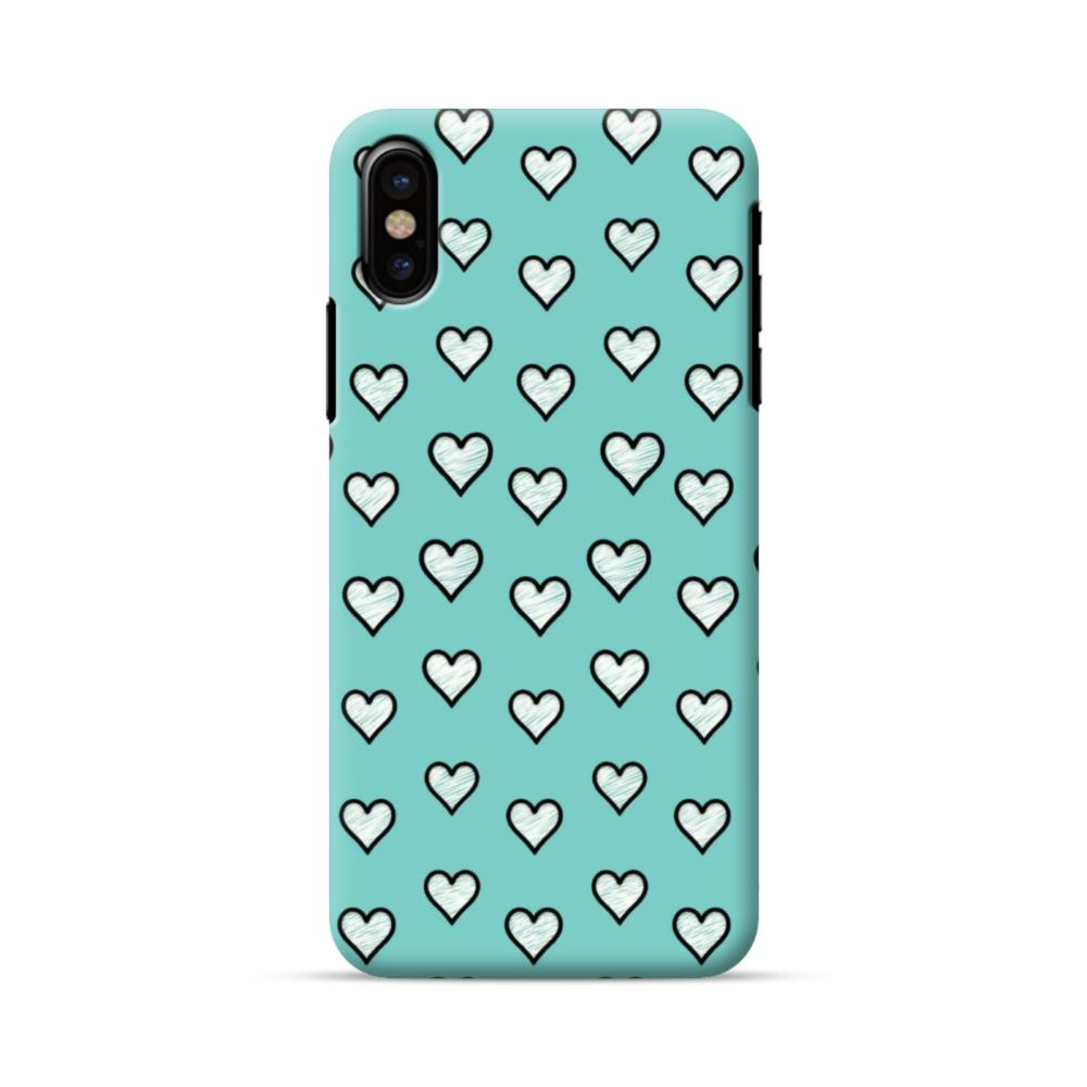 size 40 d2f04 91ec7 Lovely Hearts in Tiffany Blue iPhone X Case