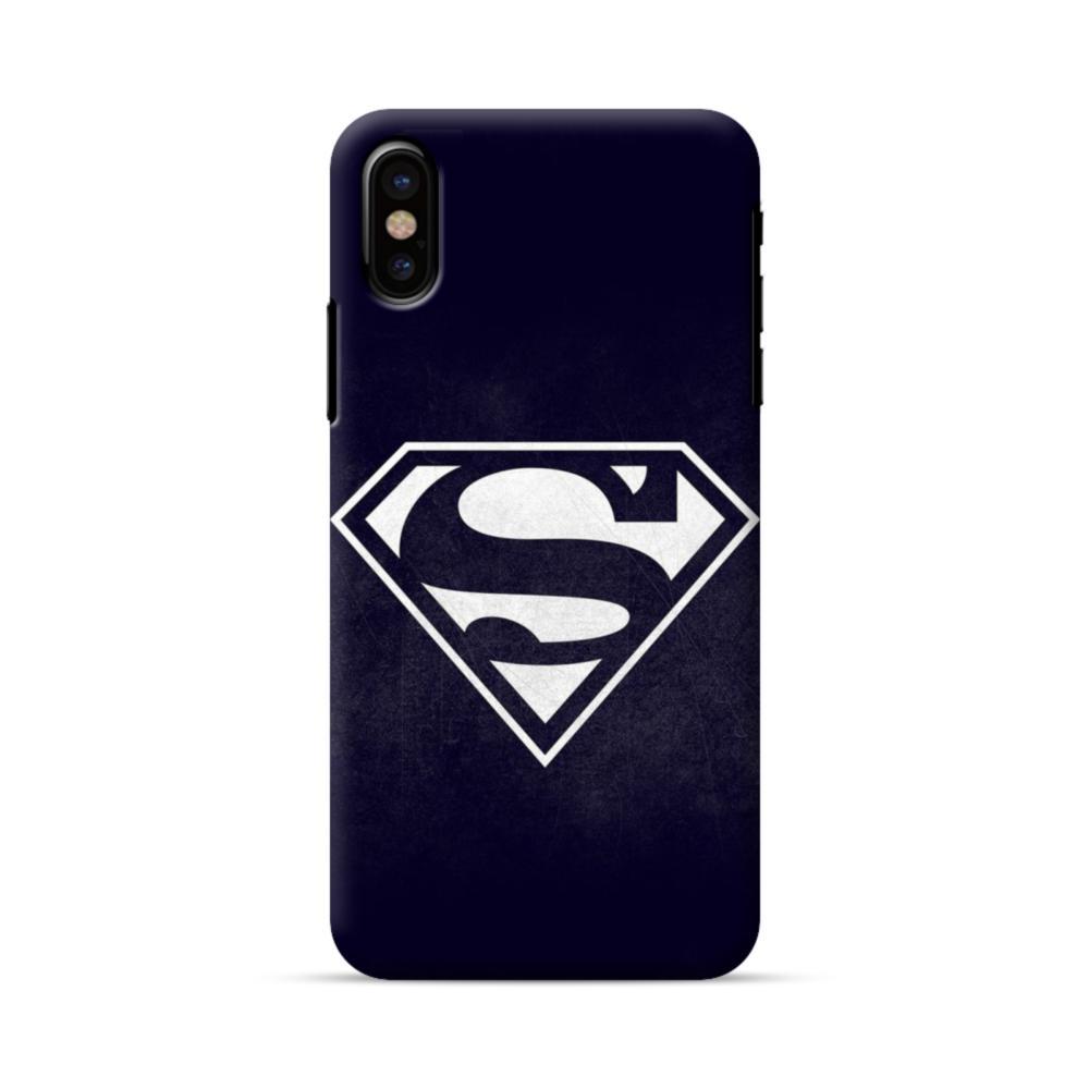 Black Superman Logo Iphone X Case Caseformula