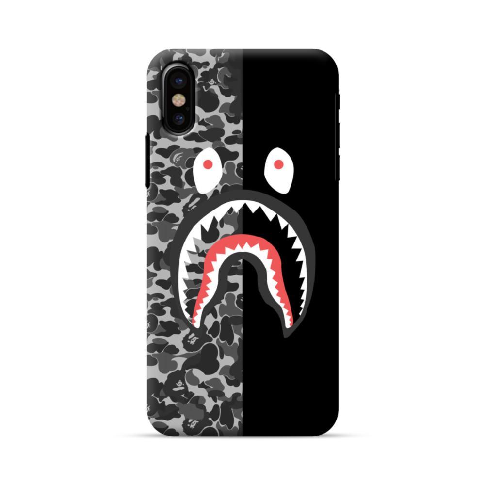 super popular 0c2ad e47e8 Shark Camo & Black iPhone X Case