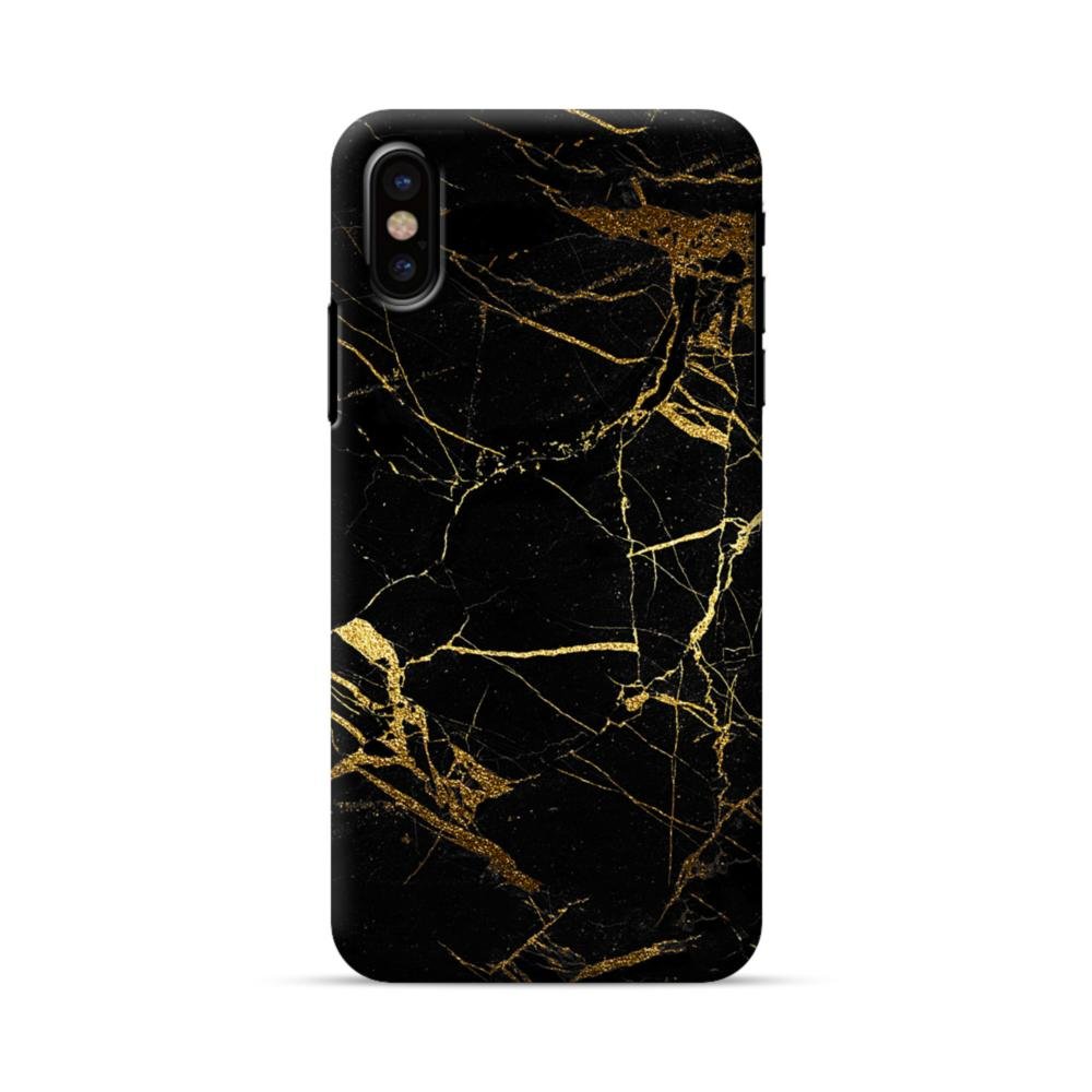 quality design 88477 b52a8 Black & Gold Marble iPhone X Case