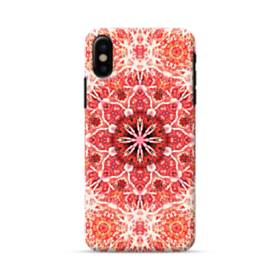 Red mandala flower iPhone X Case