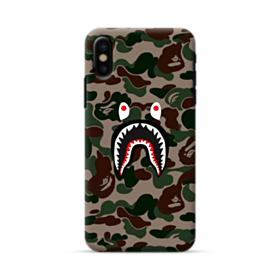 Bape shark camo print iPhone X Case