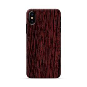 Dark Cherry Wood iPhone X Case