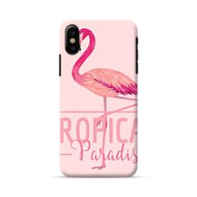 Tropical Bird Flamingo Drawing iPhone X Case