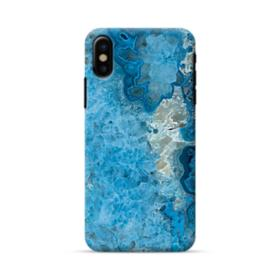 Peacock Blue Marble iPhone X Case