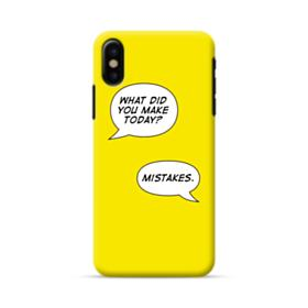 Make Mistakes iPhone X Case