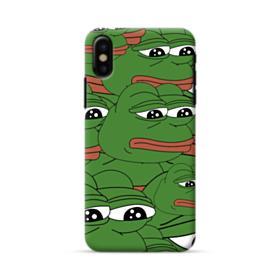 Sad Pepe frog seamless iPhone X Case