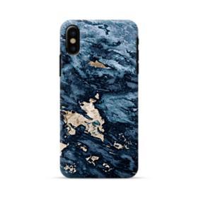 Navy Blue Sarrancolin Marble iPhone X Case
