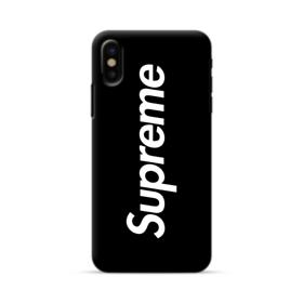 Supreme Black Cover iPhone X Case