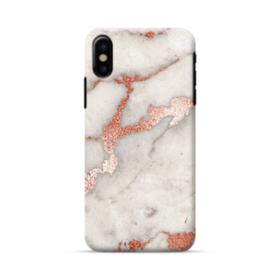Rosegold Marble iPhone X Case