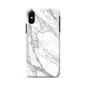 White & Grey Marble iPhone X Case