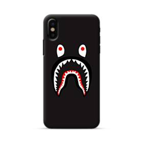 Black Monster Shark AAPE Logo iPhone X Case