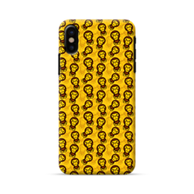 Yellow Monkey Pattern AAPE Logo iPhone X Case