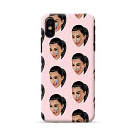 Crying Kim emoji kimoji seamless iPhone X Case
