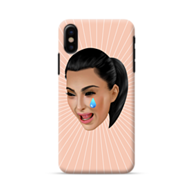 Crying Kim emoji kimoji iPhone X Case