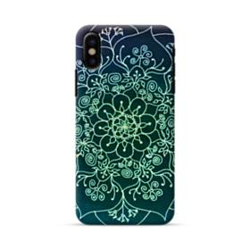 Cyan Mandala Pattern  iPhone X Case