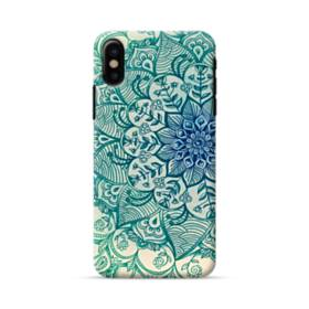 Emerald Mandala Pattern iPhone X Case