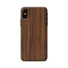 Dark Walnut Wood iPhone X Case