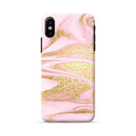 Pink & Gold iPhone X Case
