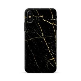 Black & Gold Marble iPhone X Case