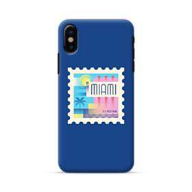 Miami US Postage Stamp iPhone X Case