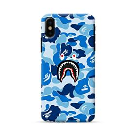 Bape Shark Blue Camo iPhone X Case