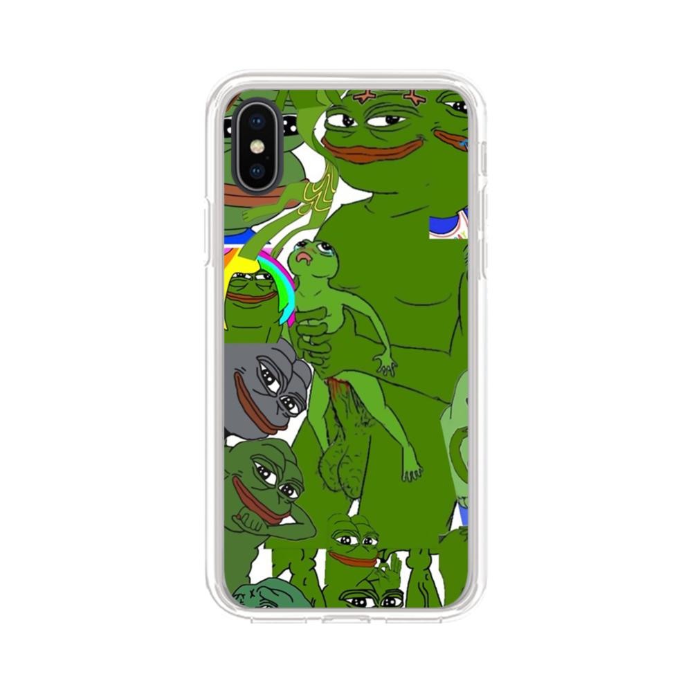 sports shoes 74e37 db2f1 Rare pepe the frog seamless iPhone X Clear Case