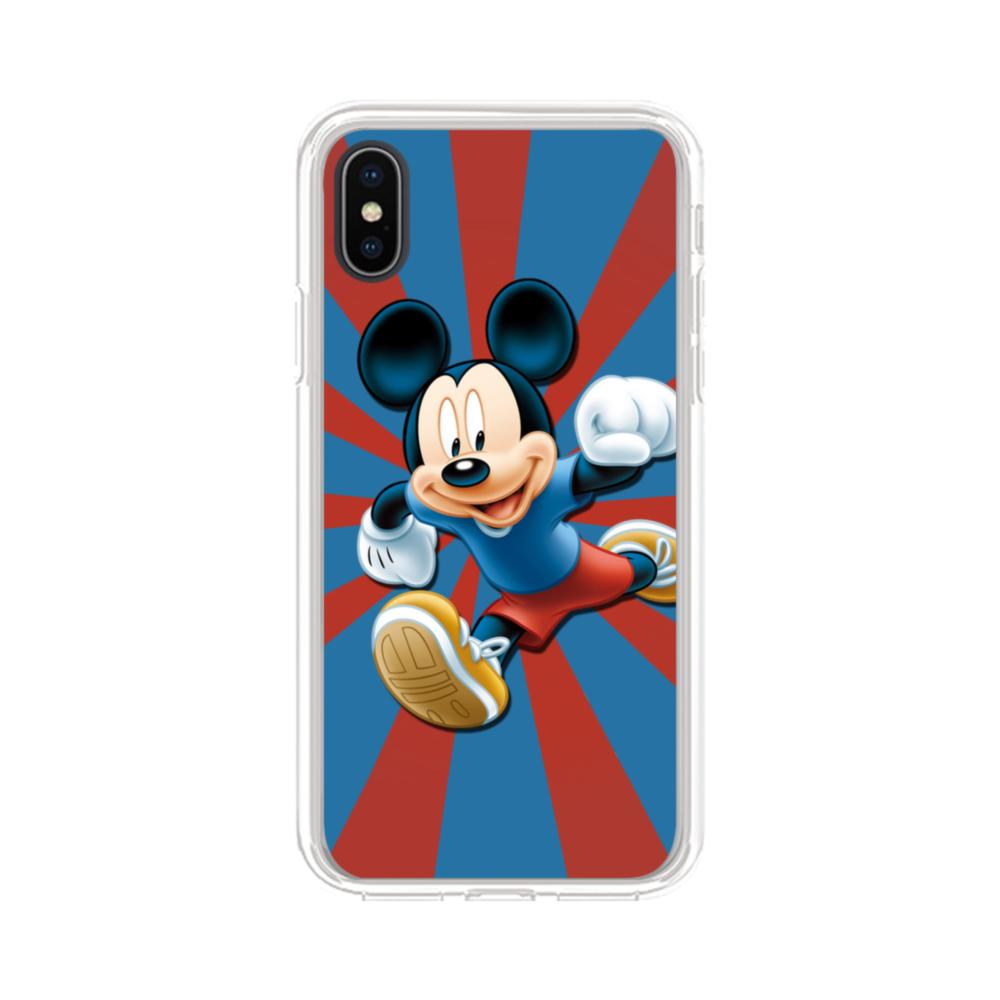 new arrival a77d8 c5dff Happy Mickey Mouse iPhone X Clear Case