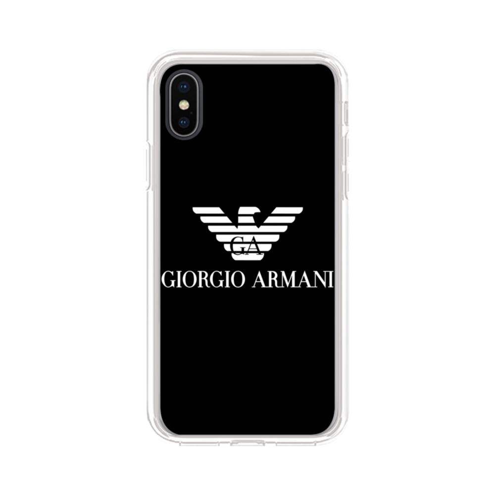 best loved 89dc5 0ae8e Giorgio Armani iPhone X Clear Case