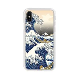 Waves iPhone X Clear Case