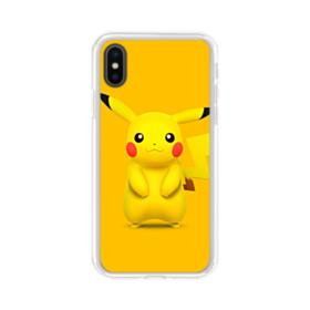 Lovely Pikachu iPhone X Clear Case