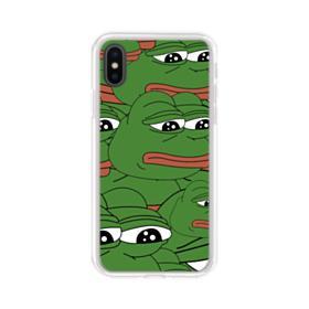 Sad Pepe frog seamless iPhone X Clear Case