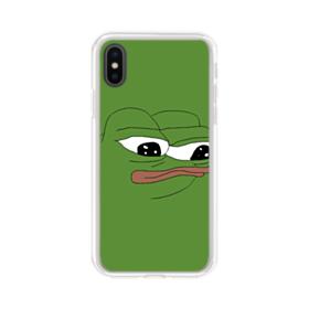 Sad Pepe frog iPhone X Clear Case