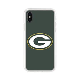 Green Bay Packers Team Logo Green iPhone X Clear Case